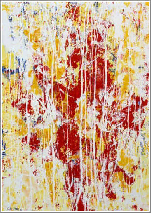 Abstract Painting Red